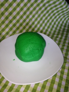 Gloriously Green Playdough
