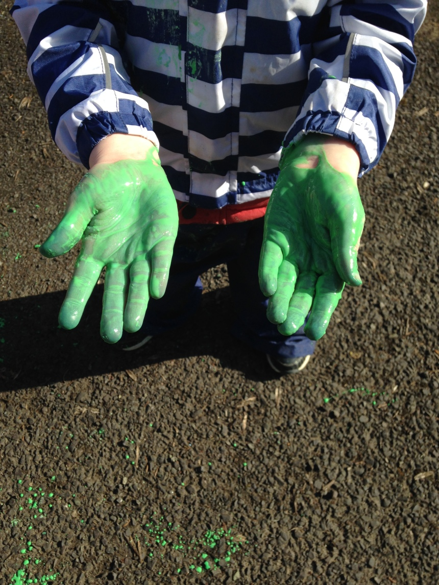 Gooey gloopy messy play
