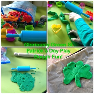 Gloriously Green St Patrick's Day Play Dough Fun!