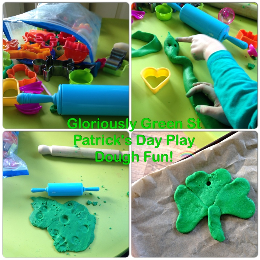 4. Gloriously Green St Patrick's Day Play Dough Fun!