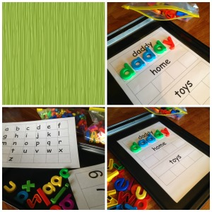 Baking Tray and Magnetic Letters and Numbers