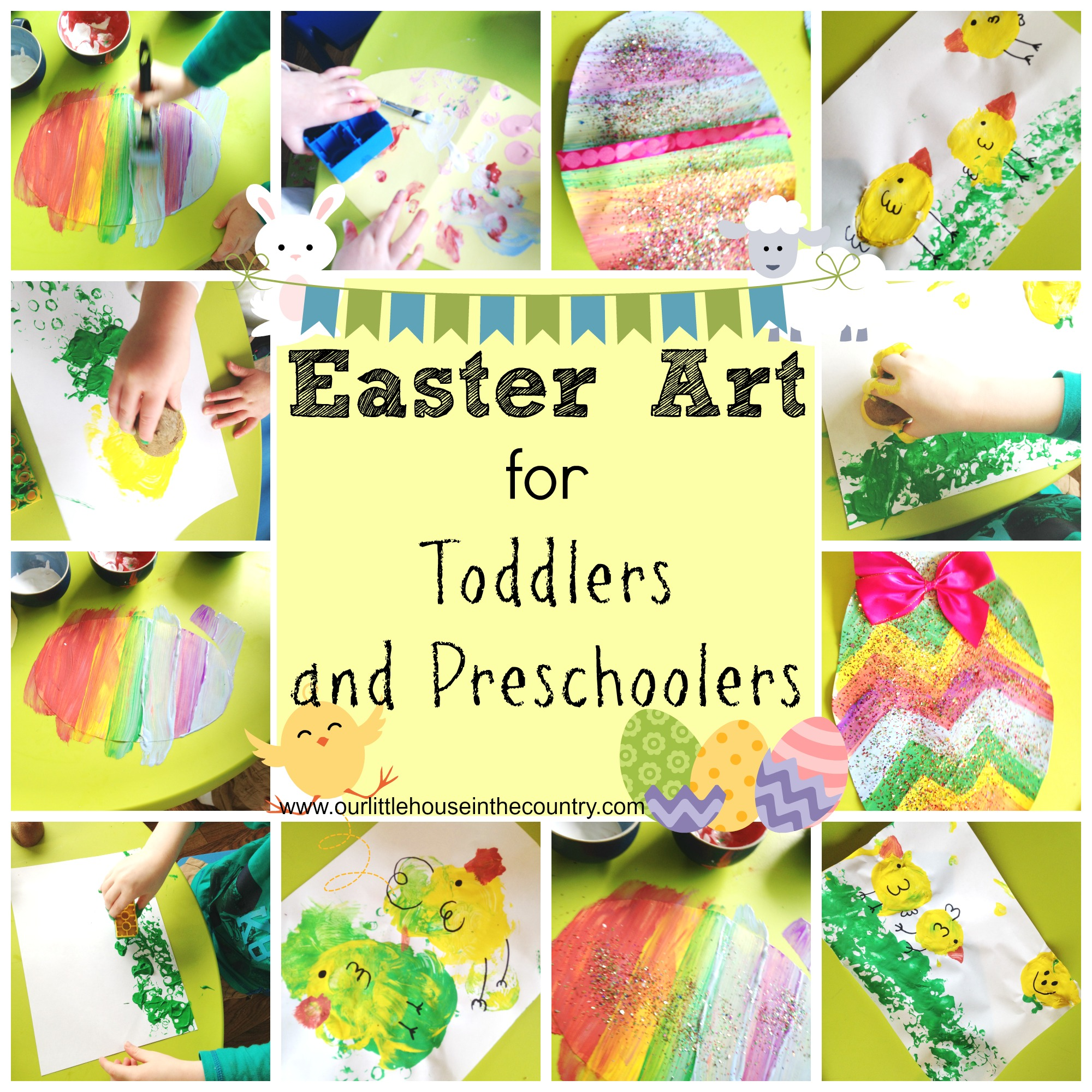 we finally got around to starting our easter artwork today i m sure