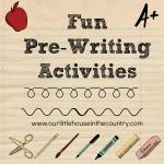 3. Fun Pre-Writing Activities