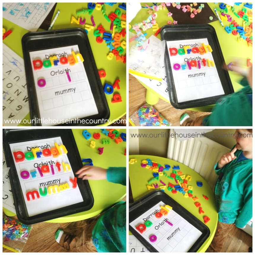 Magnetic letters and Baking Tray