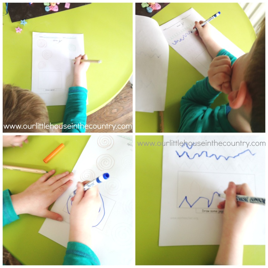 Pre Writing Patterns Worksheets