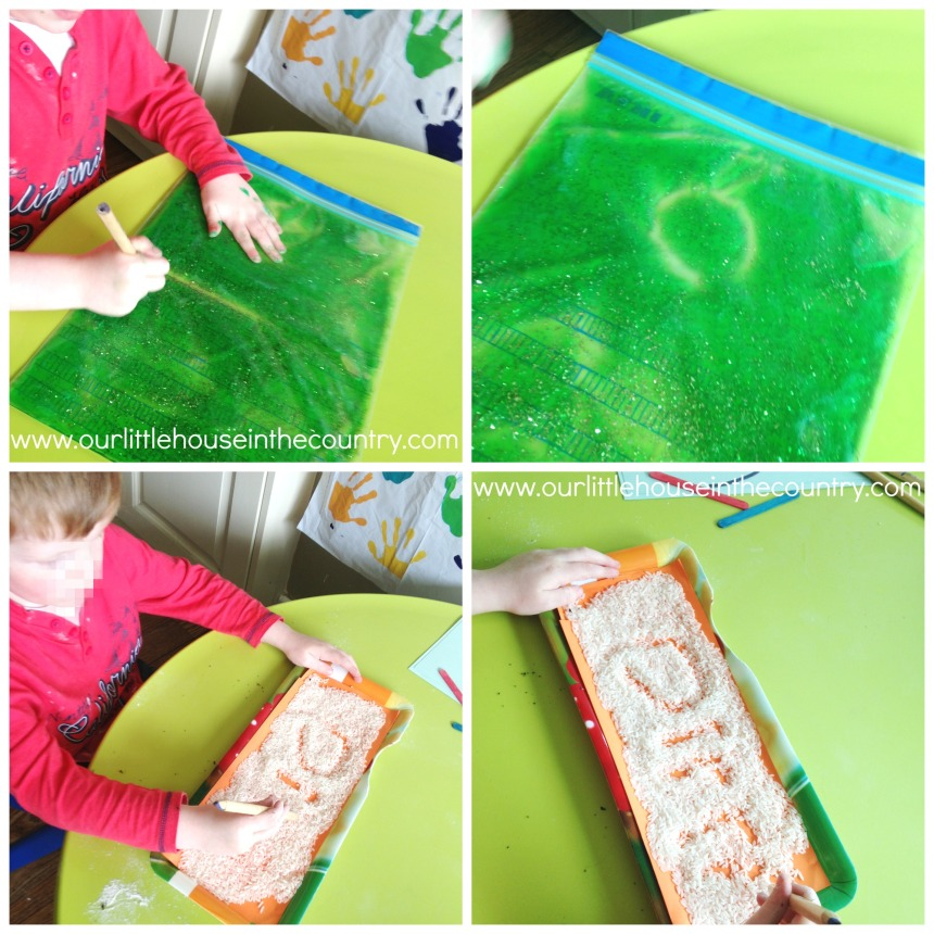 Squidgy/Sensory Bag, Rice Writing Tray
