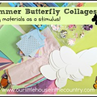 Summer Butterfly Collages: An Invitation to Create - using materials as a stimulus
