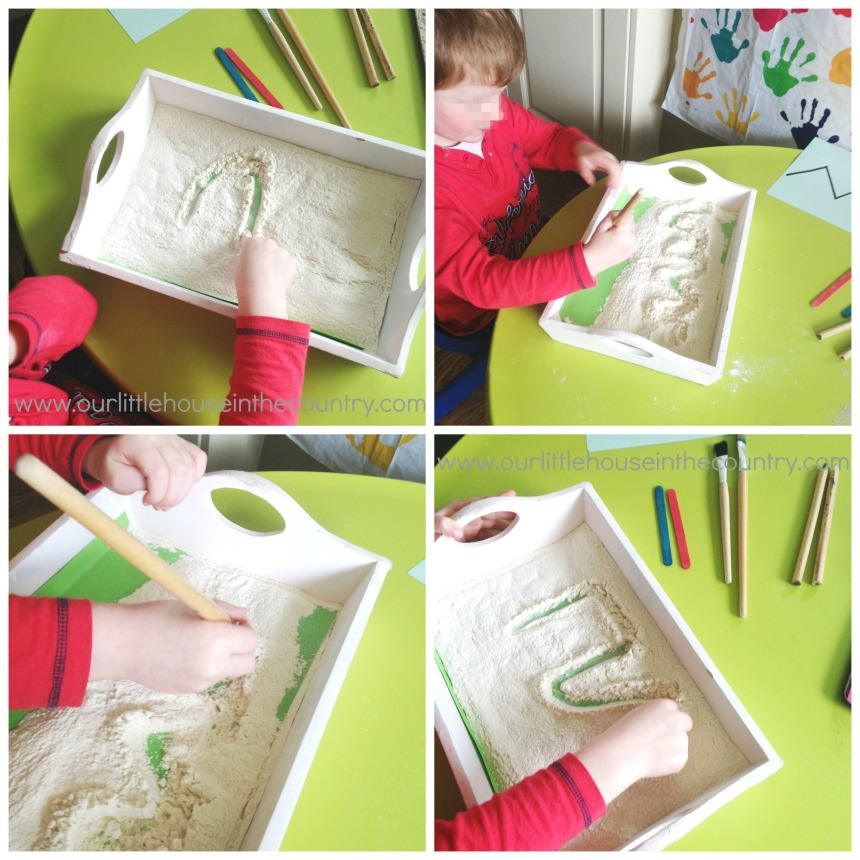 Flour Writing Tray