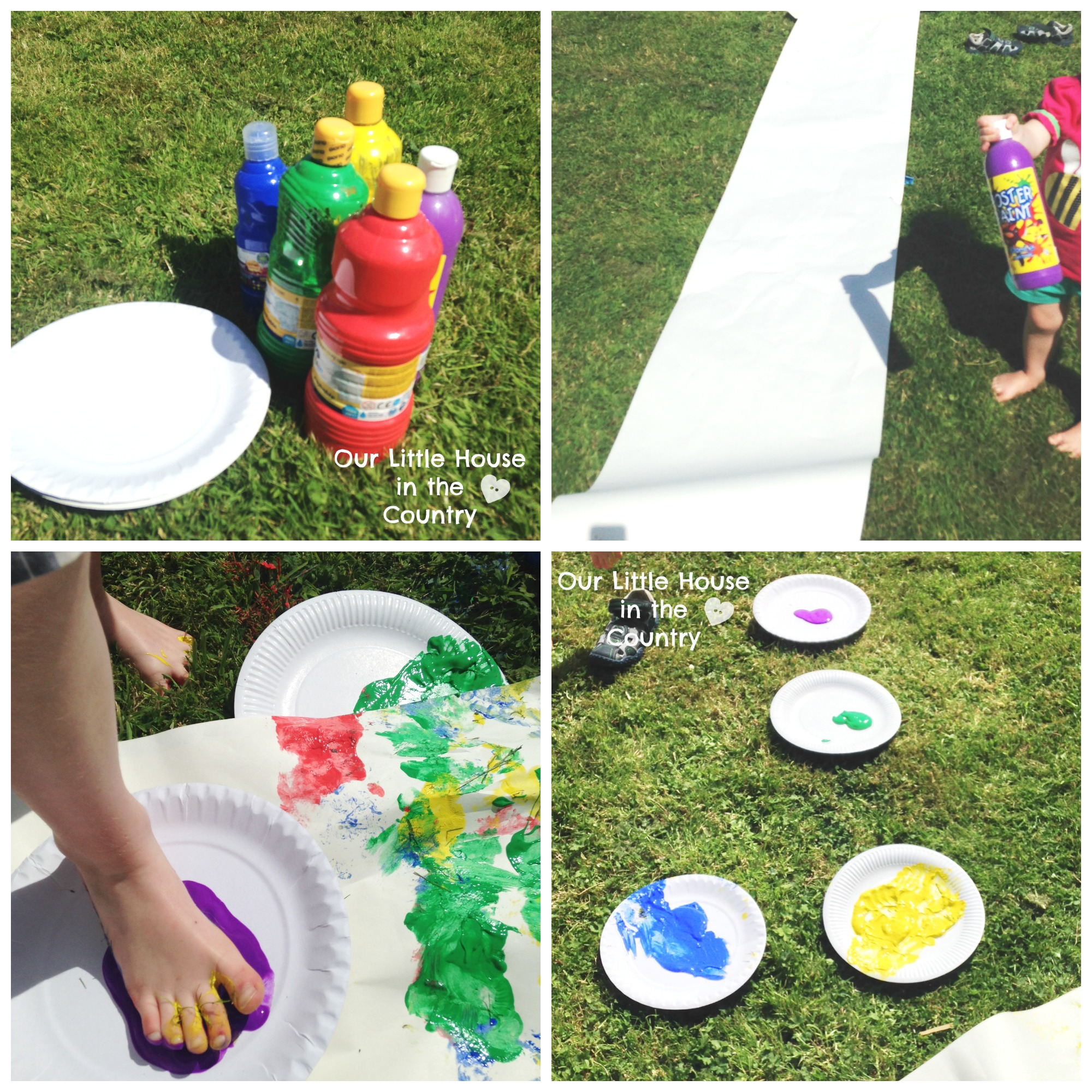 Feet Painting or Printing- Outdoor Messy Summer Fun for Kids! | Our ...