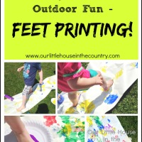 Feet Painting or Printing- Outdoor Messy Summer Fun for Kids!