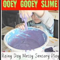 Ooooey Gooooey Slime! - Simple Indoor Rainy Day Messy Play Fun