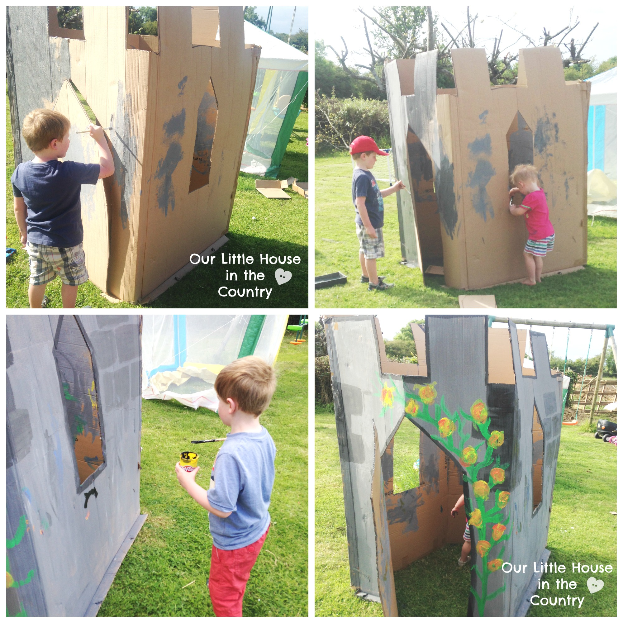 how to make a fairy tale castle u2013 outdoor summer fun for kids