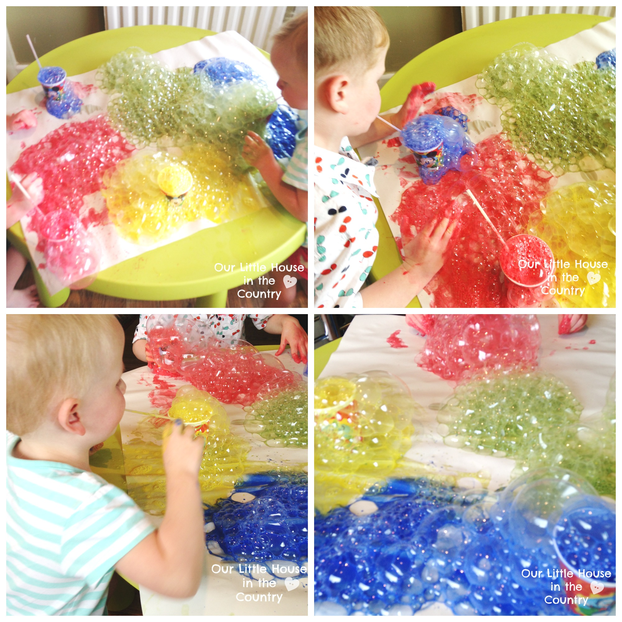 bubble painting with straws indoor messy art fun perfect for a