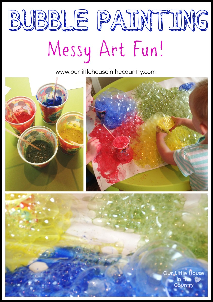 Bubble Painting with Straws - Indoor Messy Art Fun, Perfect for a Rainy Day