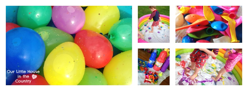 Paint Filled Water Balloons – Messy Outdoor Summer Fun