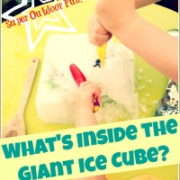 What's Inside the Ice-Cube?  - Outdoor Summer Fun!