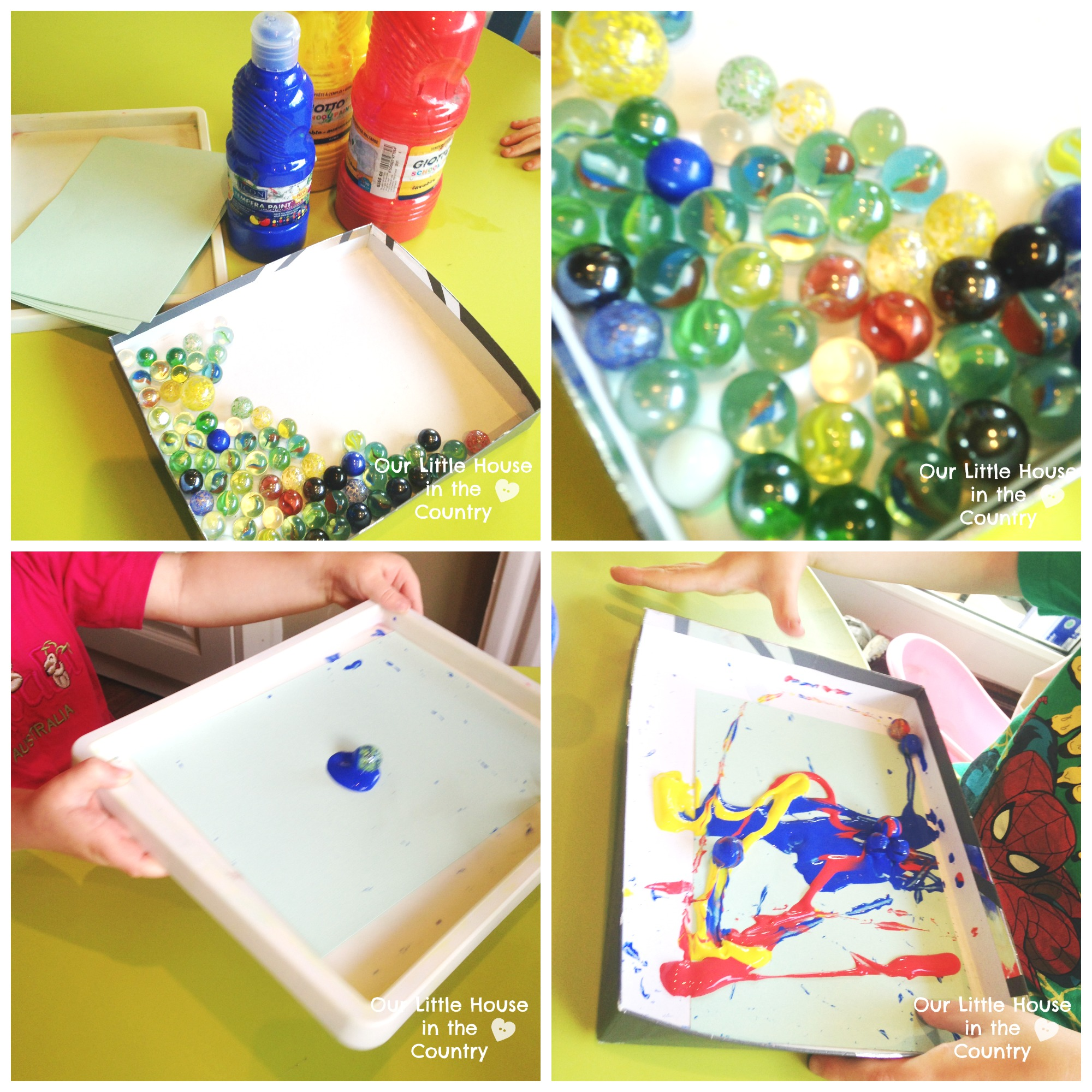 Marble Painting More Rainy Day Messy Art Fun Our