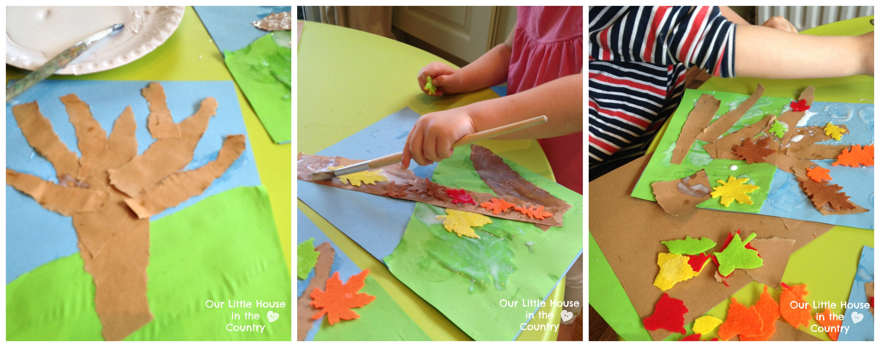 Autumn Tree Collages – Fall Art Activities for Kids | Our Little ...