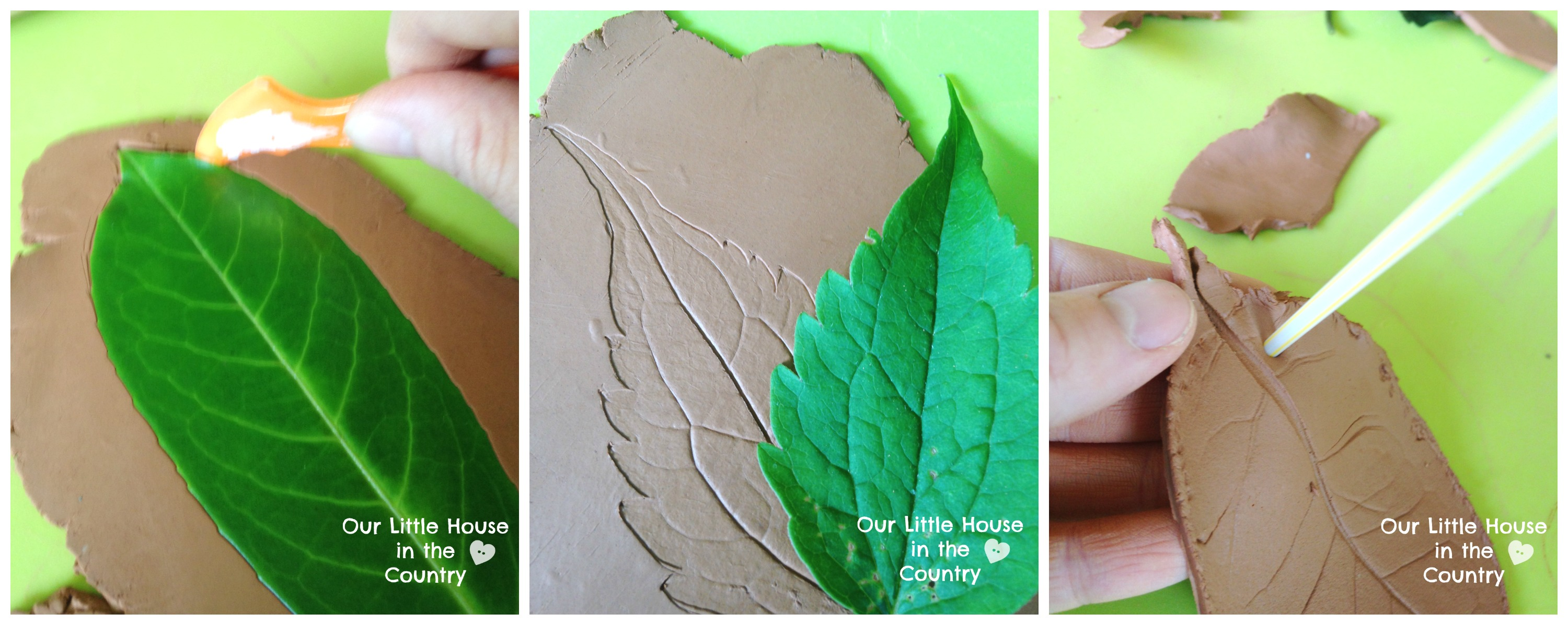 Clay Craft Ideas For Kids Part - 47: Clay Autumn Leaves - Falls Crafts For Kids -  Http://ourlittlehouseinthecountry.com