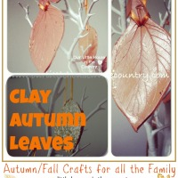 Clay Autumn Leaves - Fall Crafts for Kids