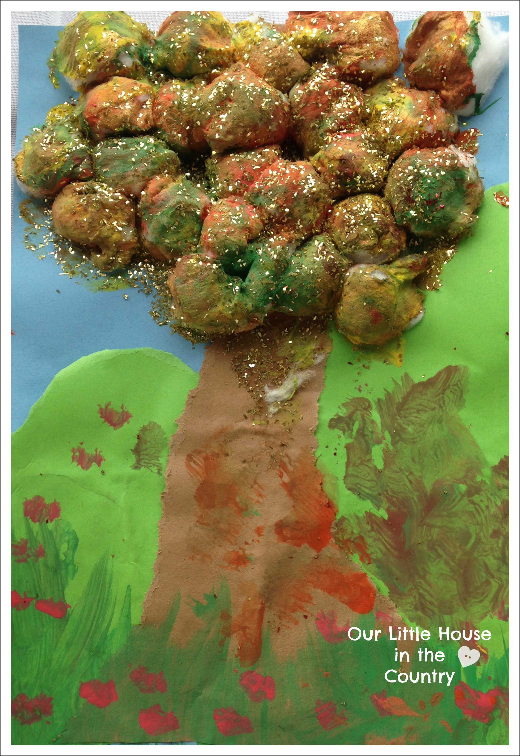 Cotton Wool Autumn Trees – Fall Art Activities for Kids | Our Little ...