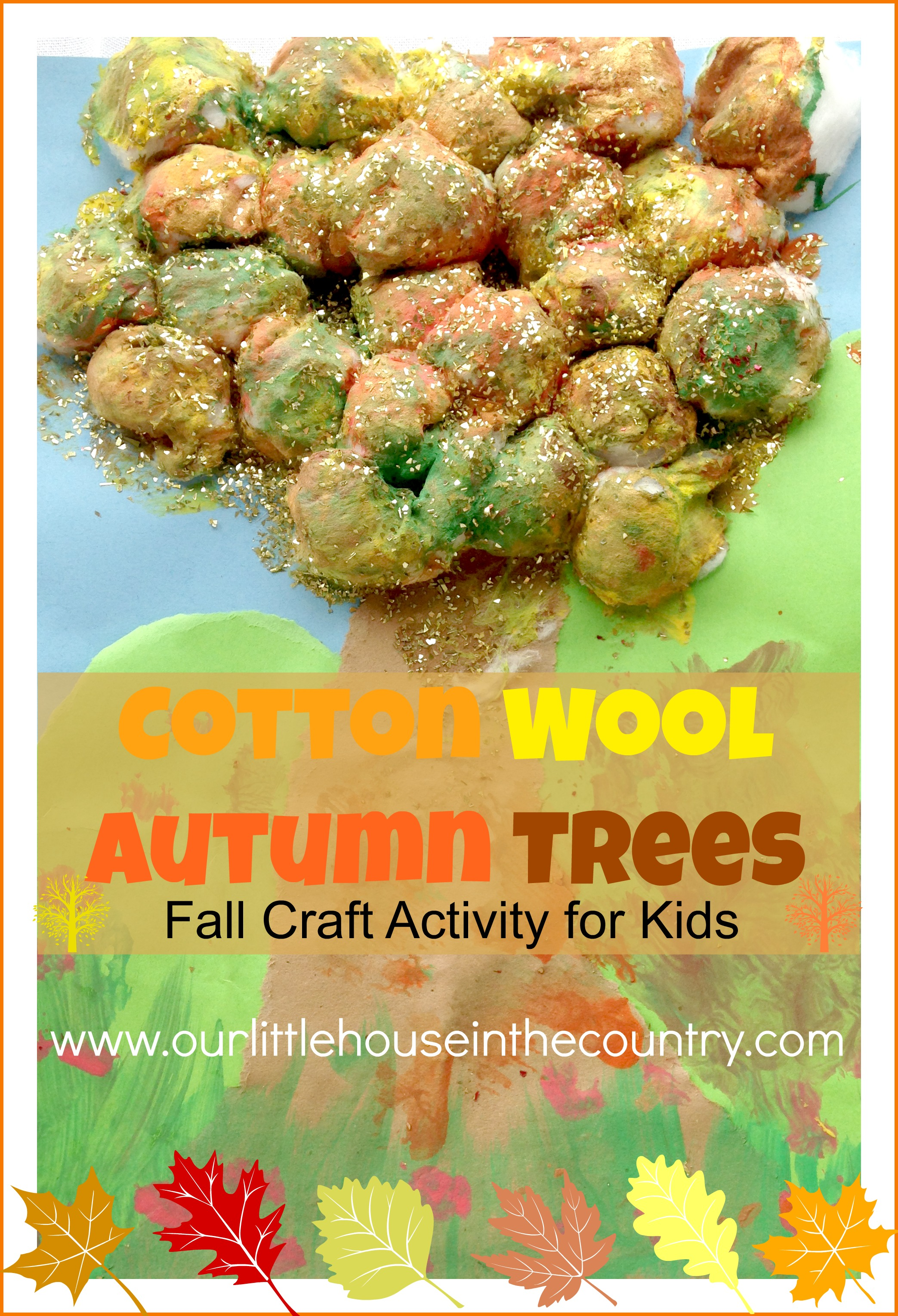 Cotton wool autumn trees fall art activities for kids our little