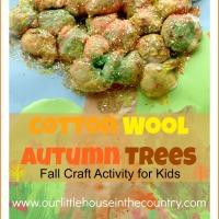 Cotton Wool Autumn Trees - Fall Art Activities for Kids