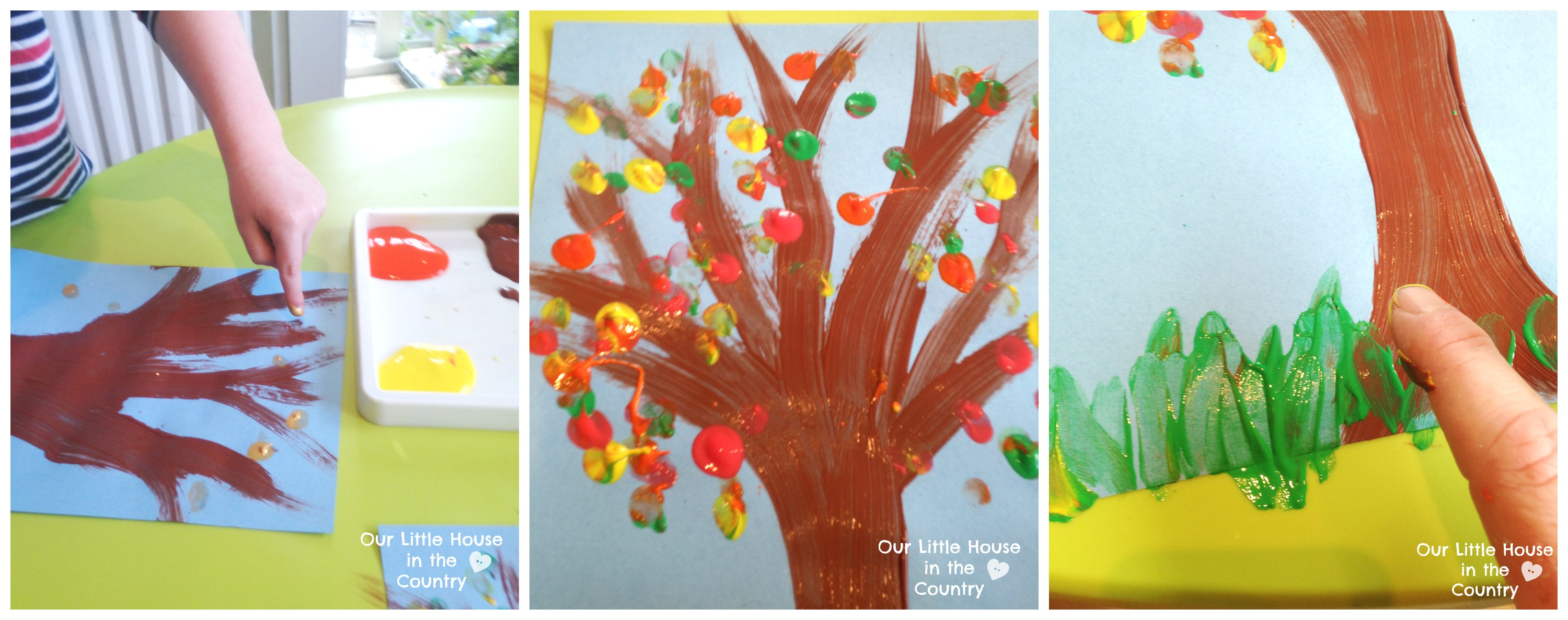 Finger Print Autumn Trees – Fall Art Activities for Kids | Our ...