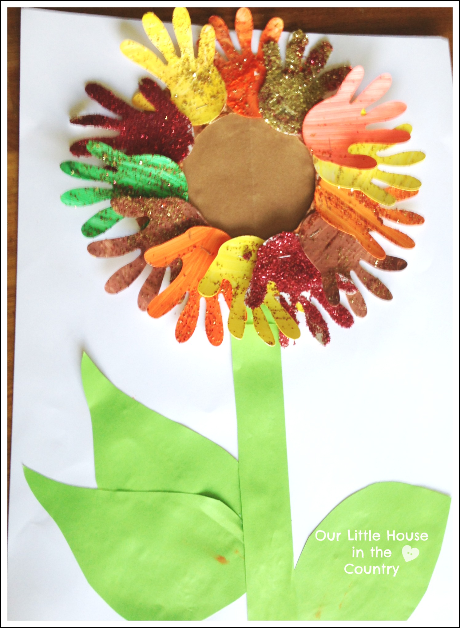 sunflower handprint art 2 autumn fall art activities for kids