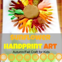Sunflower Handprint Art 2 - Autumn/Fall Art Activities for Kids