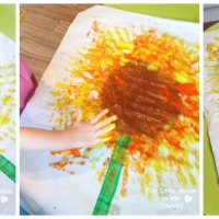 Sunflowers - Handprint Art for Kids