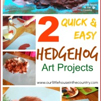 2 Quick and Easy Hedgehog Art Projects - Autumn / Fall Art for Kids