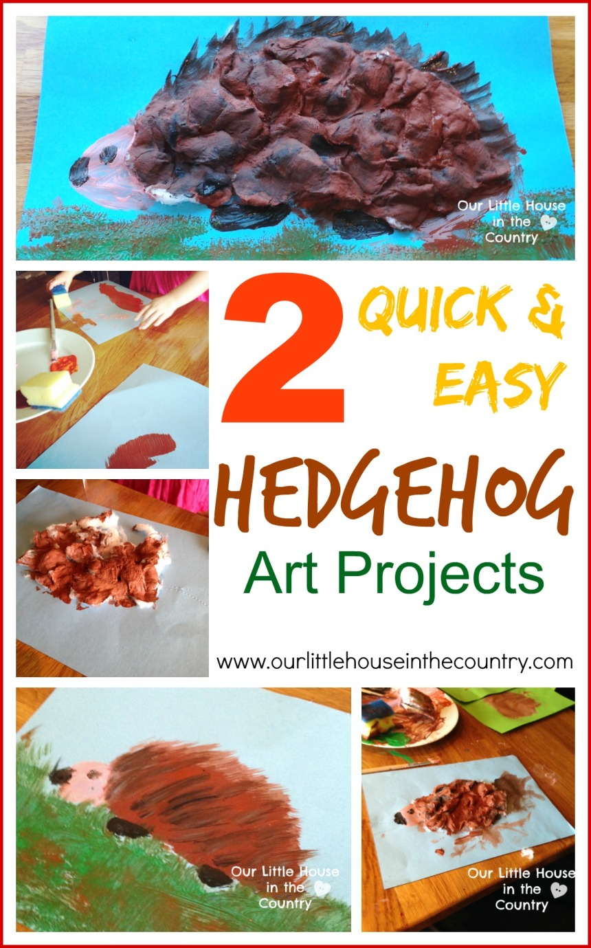 2 Quick and Easy Hedgehog Art Projects - Autumn Fall Art for Kids