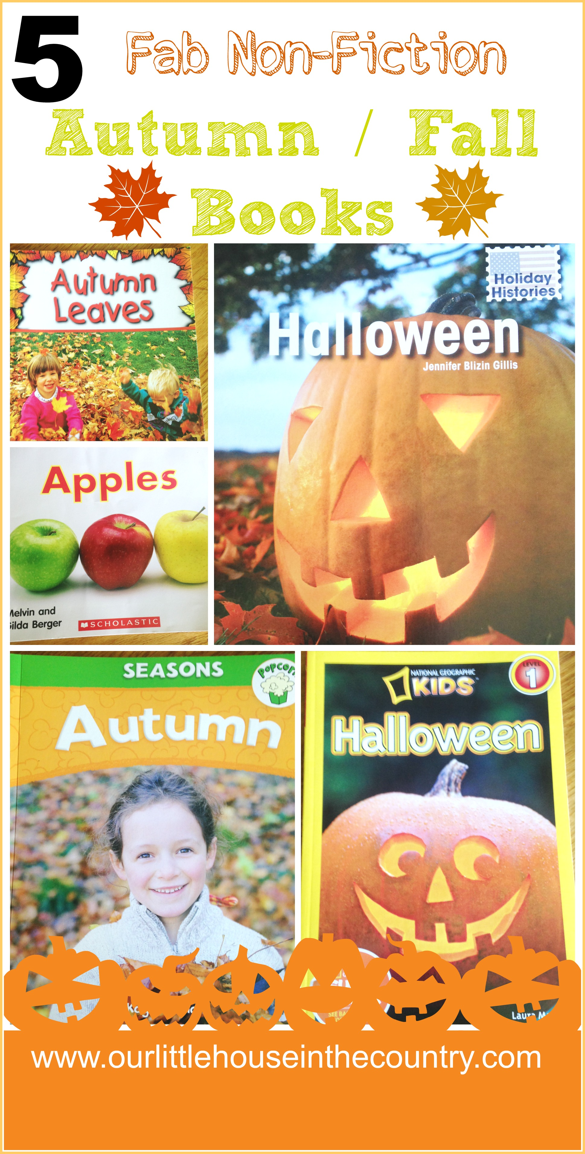 5 Fab Non Fiction Autumn, Fall, Halloween Books for Kids