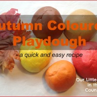 Autumn / Fall Coloured Play Dough - Quick and Simple Recipe