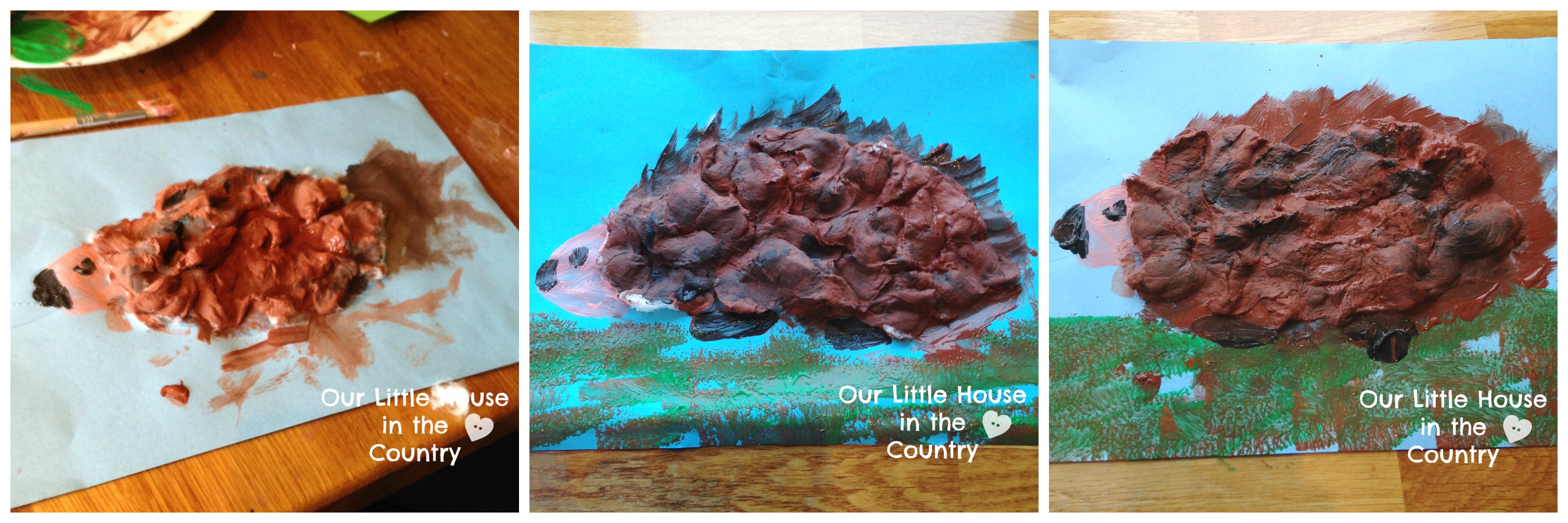 2 Quick And Easy Hedgehog Art Projects Autumn Fall Art For Kids