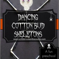 Dancing Skeletons - Cotton Bud Skeletons