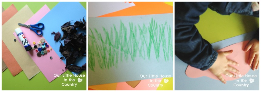 Hedgehogs - Leaf and Paper Collages - Autumn/Fall Preschool Craft Our Little House in the Country