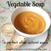 Yummy After School Snack - Mixed Autumn Vegetable Soup