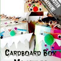 Cardboard Box Monsters - Halloween Crafts for Kids