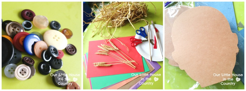 Scarecrow Collage - Autumn Craft for Preschoolers - Our Little House in the Country