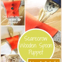 Scarecrow Wooden Spoon Puppet - Autumn / Fall Crafts for Kids