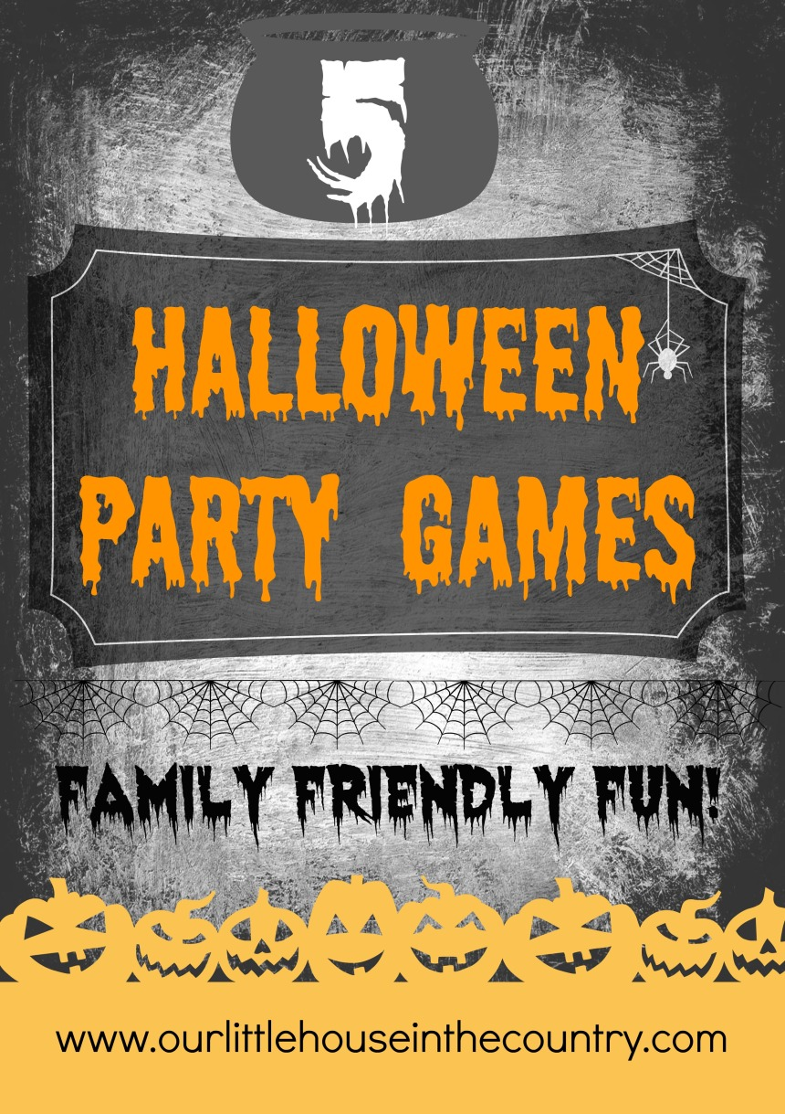 5 Halloween Party Games - Family Friendly Fun - Our Little House in the Country