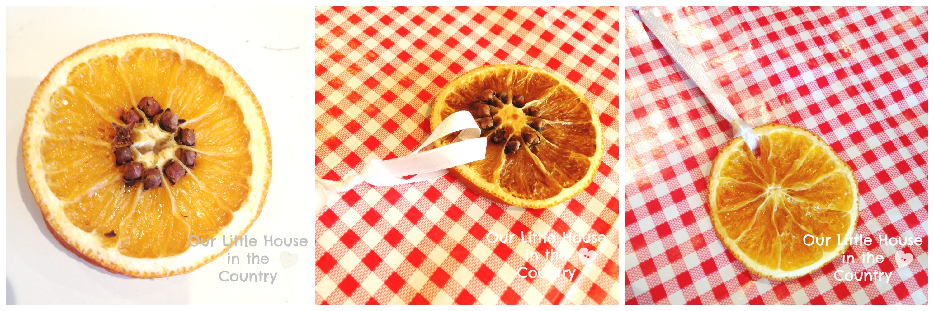 how to make dried orange and cloves slices christmas decorations our little house in the