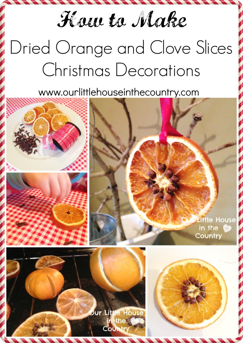 Homemade Christmas Decorations Dried Orange : How to make dried orange and cloves christmas decorations