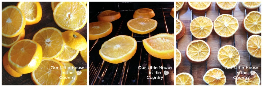 How to Make Dried Orange Slices - Perfect for use in Christmas crafts, wreaths, decorations and floral arrangements - Our Little House in the Country 1