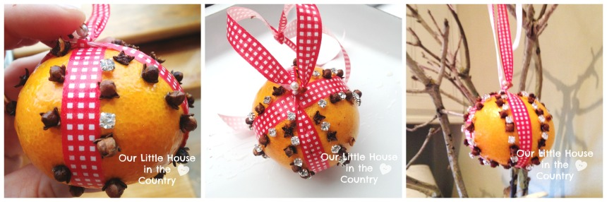 How to Make Orange and Cloves Pomanders - Our Little House in the Country