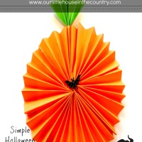 Paper Fan Pumpkin Decorations