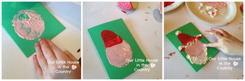 Potato Print Reindeer Christmas Card - Our Little House in the Country