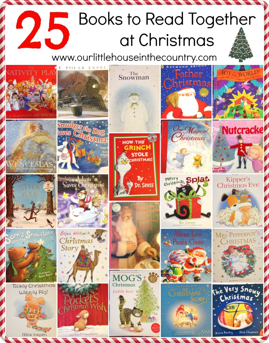 25 Books to Read Together at Christmas - Our Little House in the Country